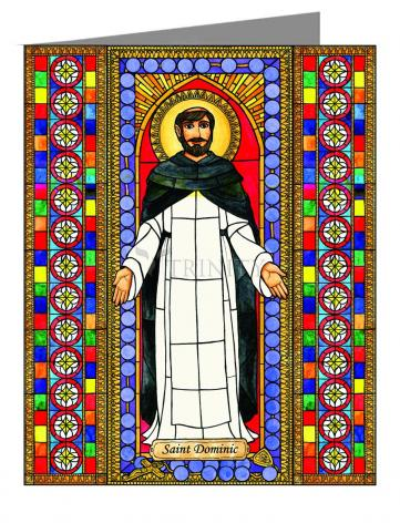 Custom Text Note Card - St. Dominic by B. Nippert