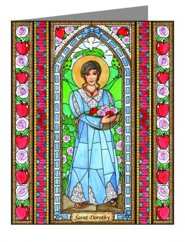 Custom Text Note Card - St. Dorothy by B. Nippert