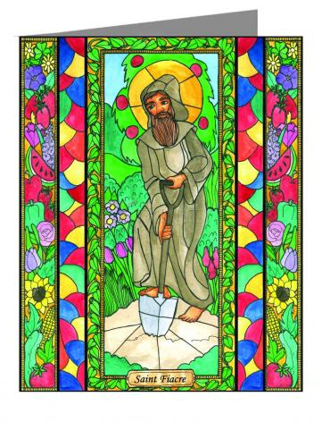 Custom Text Note Card - St. Fiacre by B. Nippert