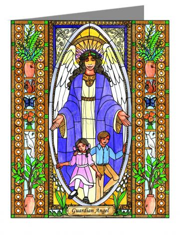 Custom Text Note Card - Guardian Angel by B. Nippert