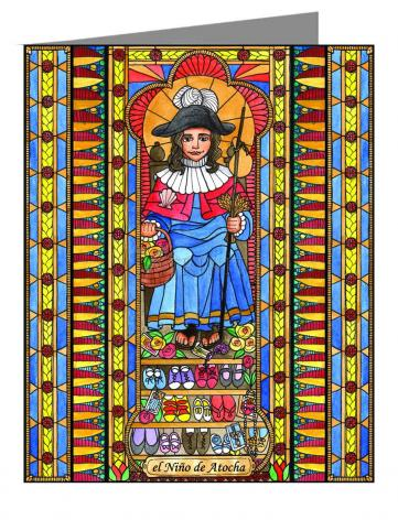 Custom Text Note Card - Holy Child of Atocha by B. Nippert