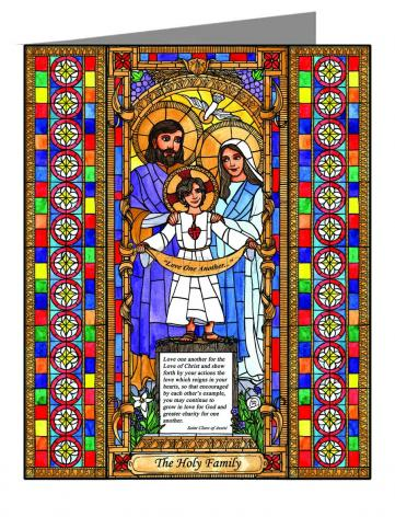 Custom Text Note Card - Holy Family by B. Nippert