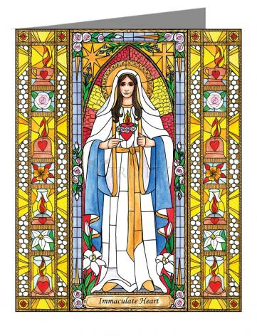 Custom Text Note Card - Immaculate Heart of Mary by B. Nippert