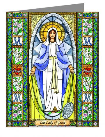 Custom Text Note Card - Our Lady of Grace by B. Nippert