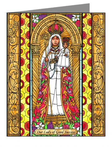 Custom Text Note Card - Our Lady of Good Success by B. Nippert