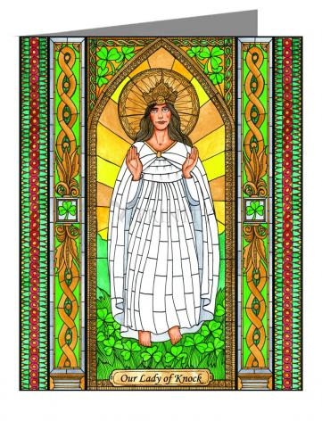 Custom Text Note Card - Our Lady of Knock by B. Nippert