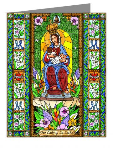 Custom Text Note Card - Our Lady of the Milk by B. Nippert