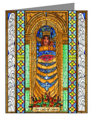 Custom Text Note Card - Our Lady of Loreto by B. Nippert