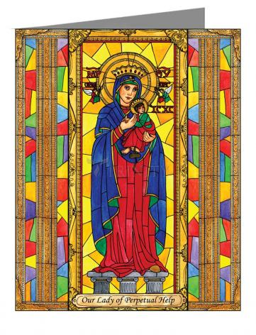 Custom Text Note Card - Our Lady of Perpetual Help by B. Nippert