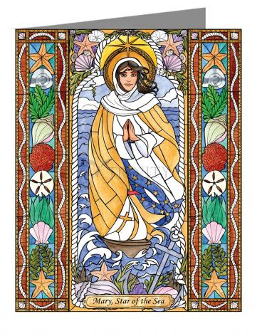Custom Text Note Card - Our Lady Star of the Sea by B. Nippert