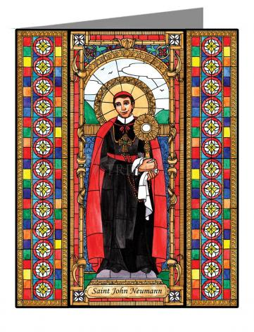 Custom Text Note Card - St. John Neumann by B. Nippert