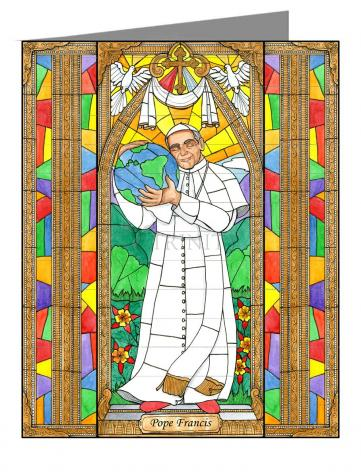 Custom Text Note Card - Pope Francis by B. Nippert