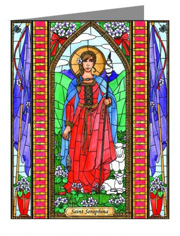 Custom Text Note Card - St. Seraphina by B. Nippert