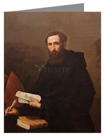 Custom Text Note Card - St. Augustine by Museum Art