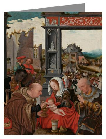Custom Text Note Card - Adoration of the Magi by Museum Art