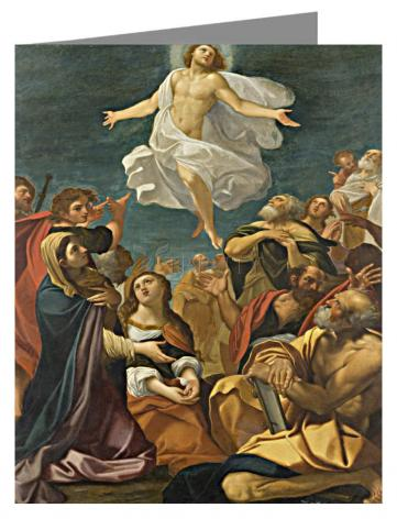 Custom Text Note Card - Ascension of Christ by Museum Art