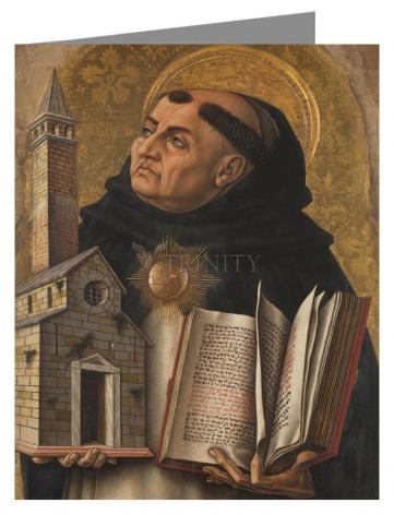 Custom Text Note Card - St. Thomas Aquinas by Museum Art