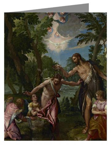 Custom Text Note Card - Baptism of Christ by Museum Art