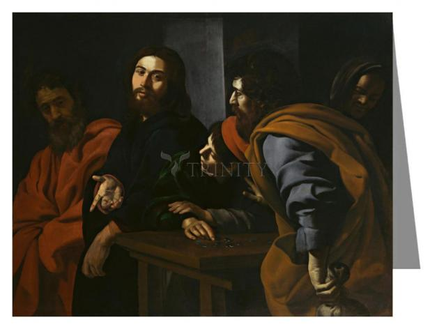 Custom Text Note Card - Calling of St. Matthew by Museum Art
