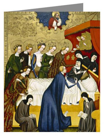 Custom Text Note Card - Death of St. Clare of Assisi by Museum Art