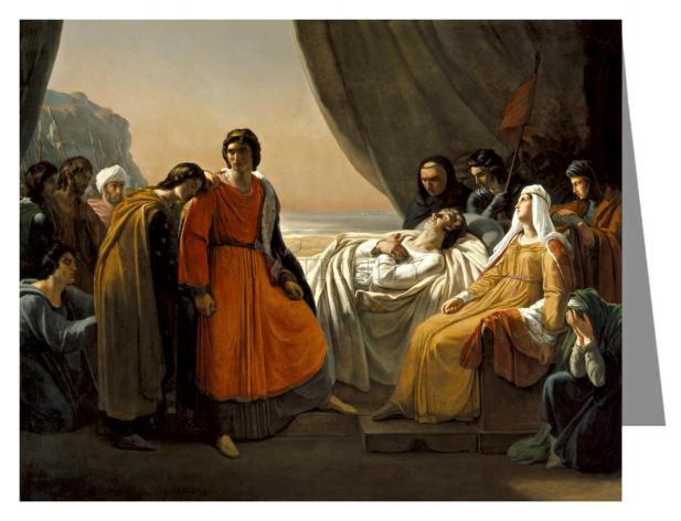 Custom Text Note Card - Death of St. Louis, King of France by Museum Art