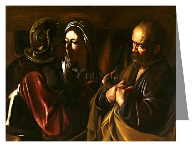 Custom Text Note Card - Denial of St. Peter by Museum Art