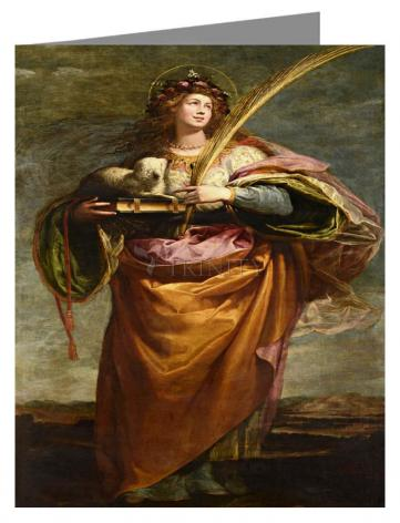 Custom Text Note Card - St. Agnes by Museum Art