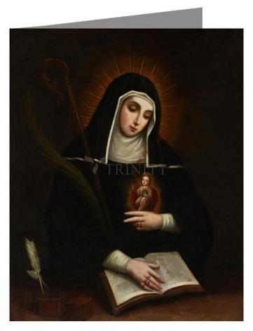 Custom Text Note Card - St. Gertrude by Museum Art
