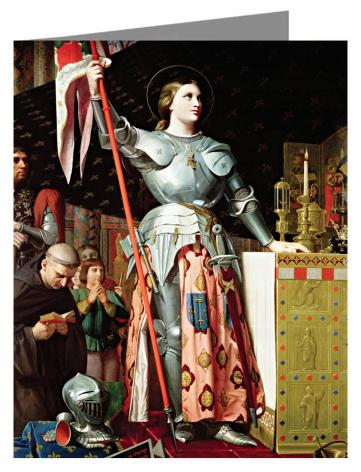 Custom Text Note Card - St. Joan of Arc at Coronation of Charles VII by Museum Art