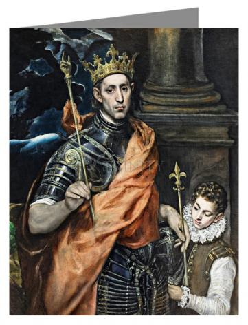Custom Text Note Card - St. Louis, King of France by Museum Art