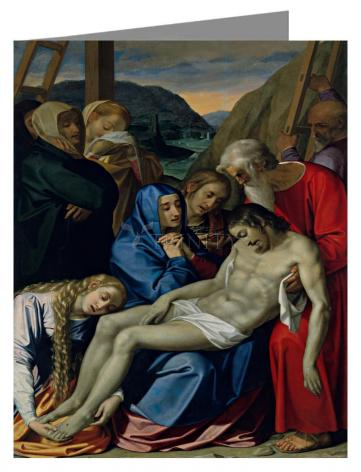 Custom Text Note Card - Lamentation by Museum Art