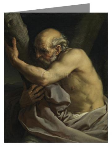 Custom Text Note Card - St. Andrew by Museum Art