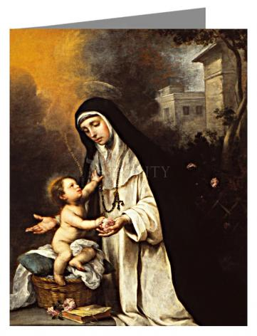 Custom Text Note Card - St. Rose of Lima by Museum Art