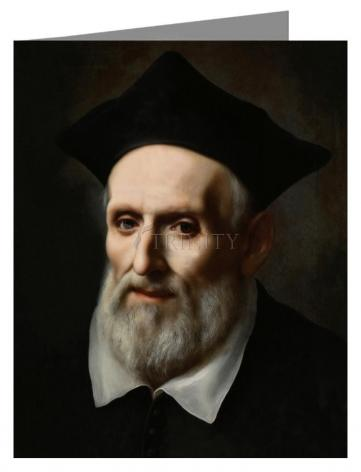 Custom Text Note Card - St. Philip Neri by Museum Art