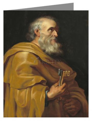 Custom Text Note Card - St. Peter by Museum Art