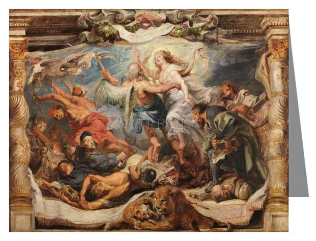 Custom Text Note Card - Victory of Truth over Heresy by Museum Art
