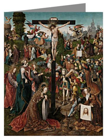 Custom Text Note Card - Crucifixion by Museum Art