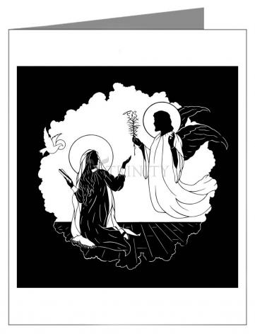 Custom Text Note Card - Annunciation by D. Paulos