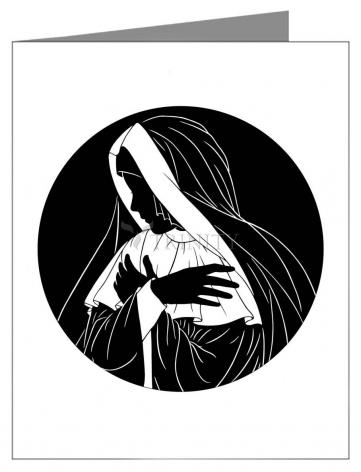 Custom Text Note Card - Mater Dolorosa by D. Paulos
