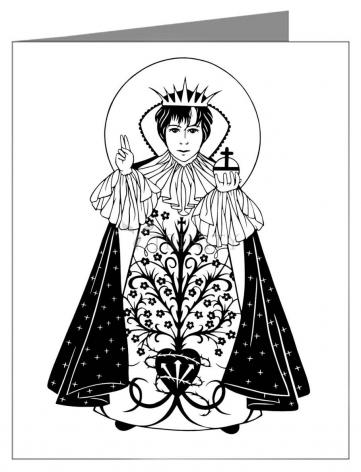 Custom Text Note Card - Infant of Prague by D. Paulos