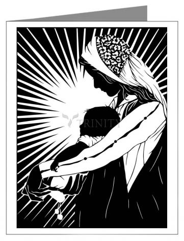 Custom Text Note Card - Our Lady of the Light - ver.1 by D. Paulos