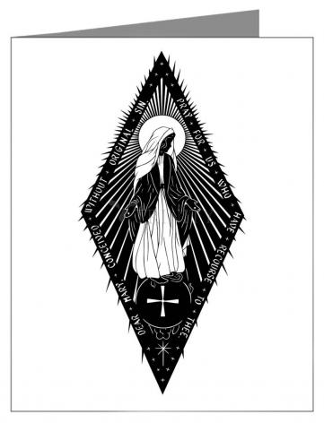 Custom Text Note Card - Miraculous Medal by D. Paulos