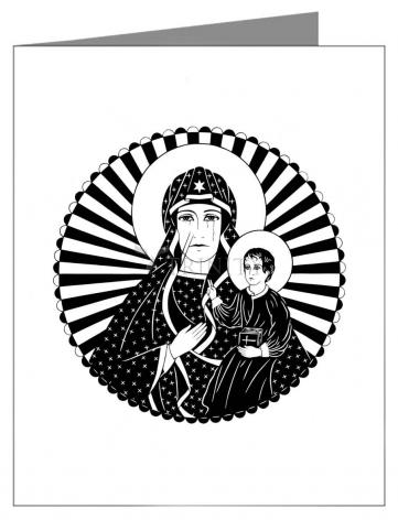 Custom Text Note Card - Mother of Poland by D. Paulos
