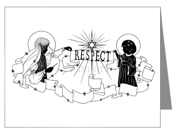 Custom Text Note Card - Respect by D. Paulos