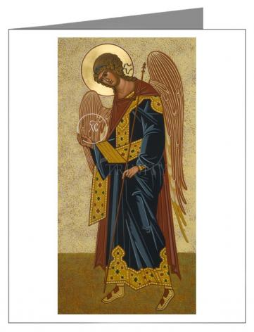 Custom Text Note Card - St. Gabriel Archangel by J. Cole
