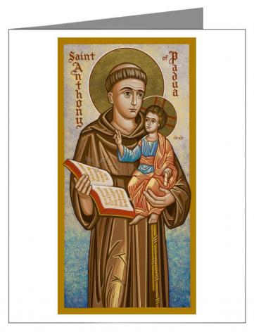 Custom Text Note Card - St. Anthony of Padua by J. Cole