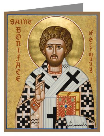 Custom Text Note Card - St. Boniface of Germany by J. Cole