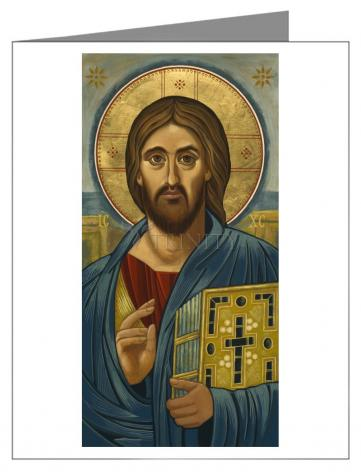 Custom Text Note Card - Christ Blessing by J. Cole