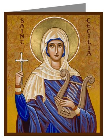 Custom Text Note Card - St. Cecilia by J. Cole