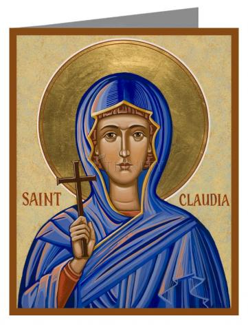 Custom Text Note Card - St. Claudia by J. Cole